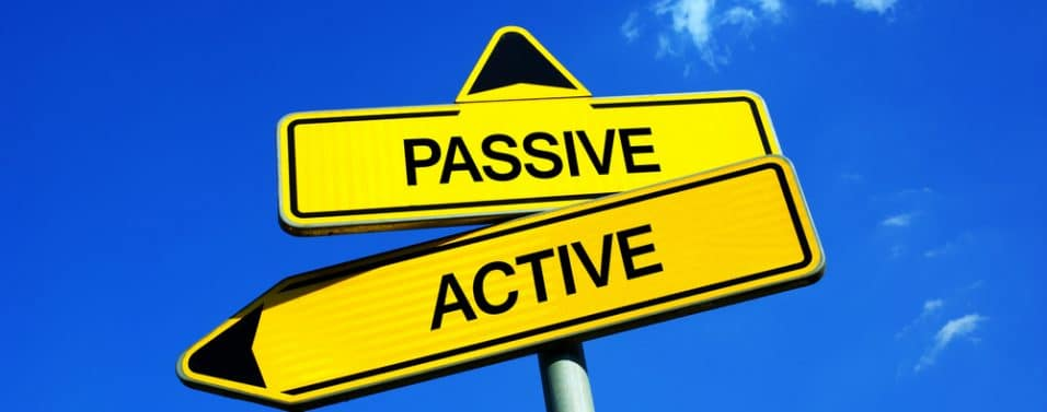 Active vs passive sign