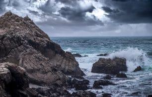 Gloomy sea