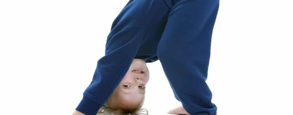 Child upside down
