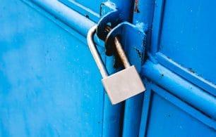 Door padlocked