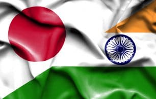 Japan and India flag