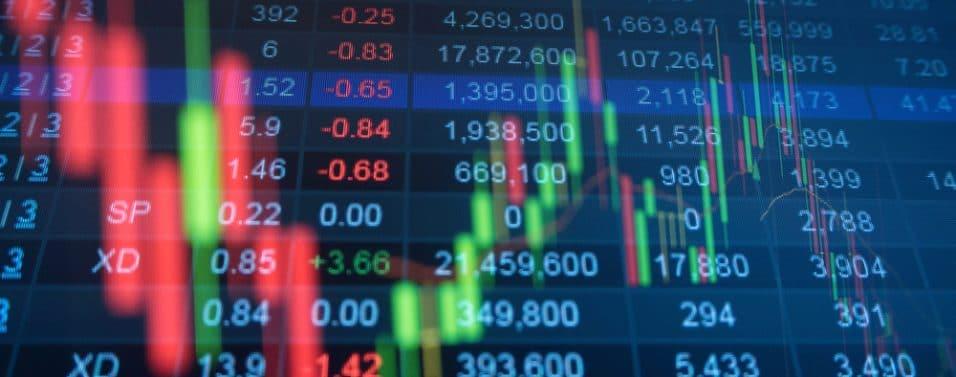 US stock market chart