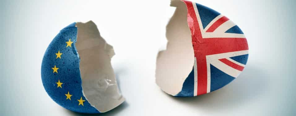 Broken Brexit egg