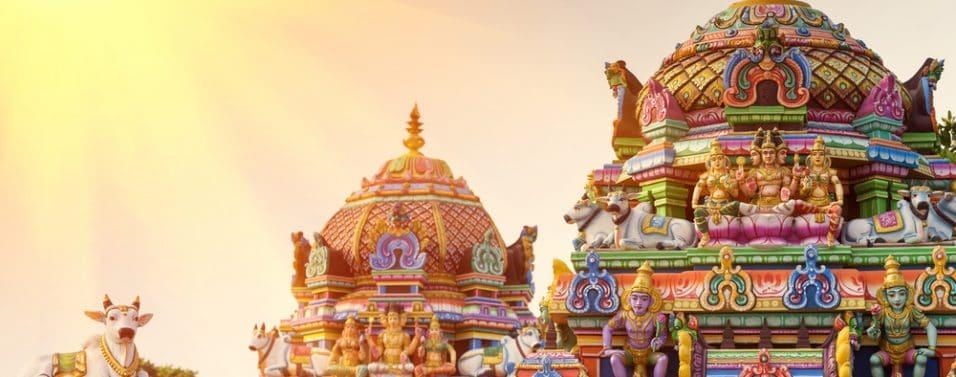 India temple in sunshine