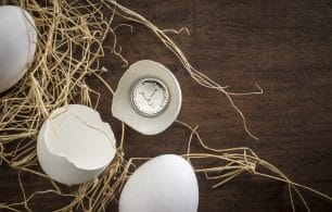 Eggs and a clock