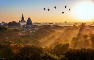 Balloons landscape