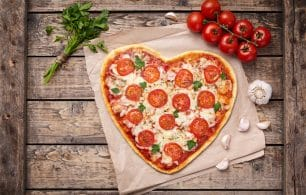 Valentines pizza