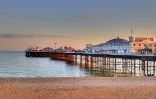 Brighton pier beach