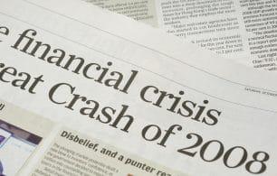 Newspaper financial crash