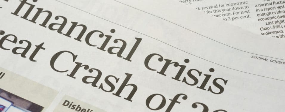 Newspaper financial crash