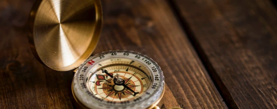 Shallow focus compass