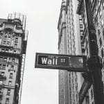 Wall Street black and white photo