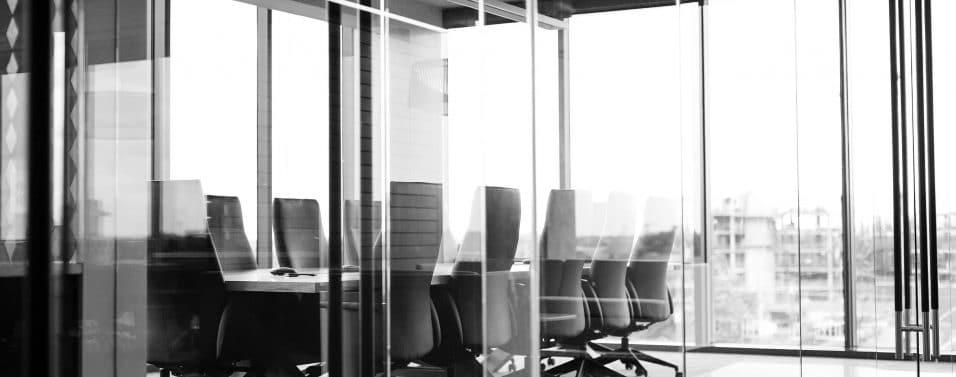greyscale boardroom