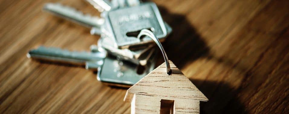 Keys on house key ring