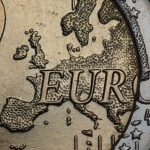 macro shot of euro 2 coin