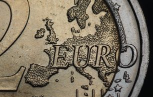 macro shot of euro 2 coin