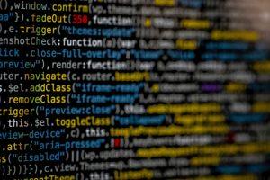 Code on screen, cybersecurity