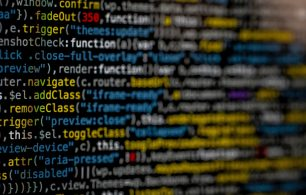 Code on screen, cybersecurity