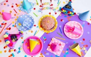 Birthday decor bright