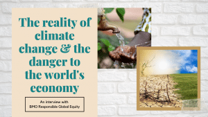 The reality of climate change and how to invest for change
