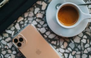 iphone 11 and coffee