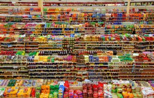 supermarket Ariel view
